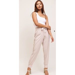Dynamite Nude Sacha Belted Jogger Pants